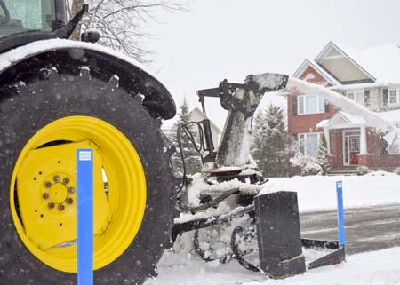 In Action Residential Snow Removal Services Drive Way Clearing Truck