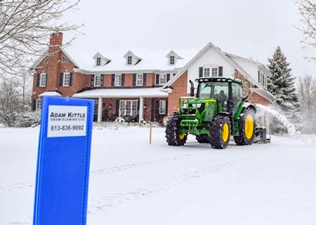 Residential Snow Removal Truck in Action